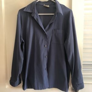 Clio Women's Dusky Blue Button Up